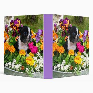 Boston Terrier Avery binder