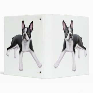 Boston Terrier Avery Binder