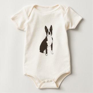 Boston Terrier Baby Bodysuits