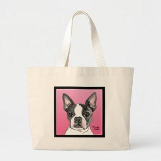 Boston Terrier Canvas Bags