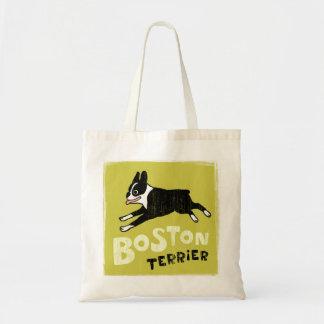 Boston Terrier Canvas Bag