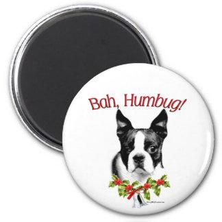 Boston Terrier Bah Humbug Magnet