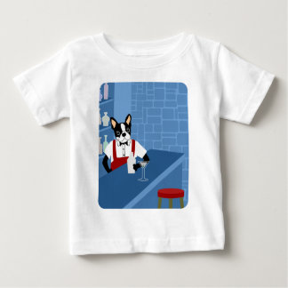 Boston Terrier Bartender Baby T-Shirt