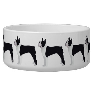 Boston Terrier Basic Breed Customizable Design Bowl