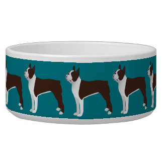 Boston Terrier Basic Customize with text and color Bowl