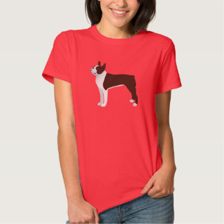 Boston Terrier Basic Customize with text and color T Shirt