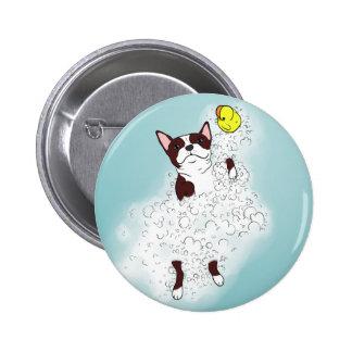 Boston Terrier Bath Button