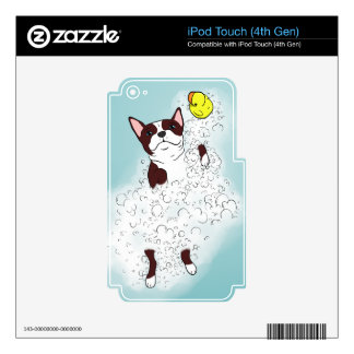 Boston Terrier Bath Decal For iPod Touch 4G