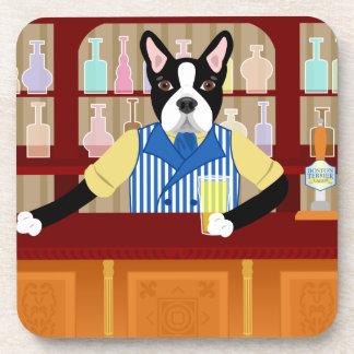 Boston Terrier Beer Pub Drink Coaster