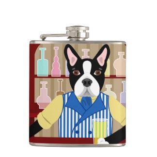 Boston Terrier Beer Pub Hip Flask