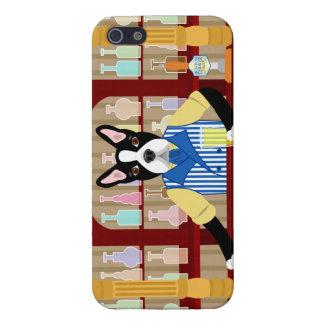 Boston Terrier Beer Pub iPhone SE/5/5s Case
