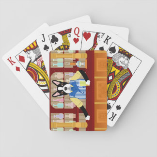 Boston Terrier Beer Pub Playing Cards