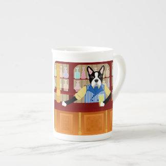 Boston Terrier Beer Pub Tea Cup