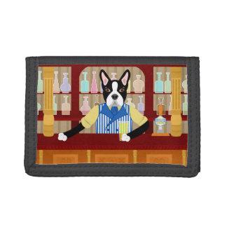 Boston Terrier Beer Pub Tri-fold Wallet