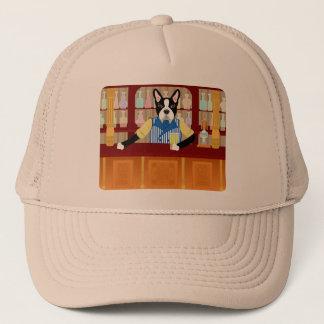 Boston Terrier Beer Pub Trucker Hat