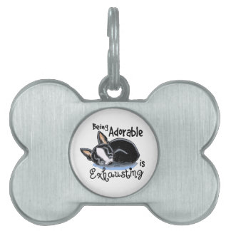 Boston Terrier Being Adorable Pet Tag