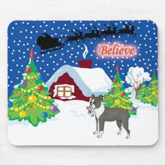 boston terrier believe mouse pad