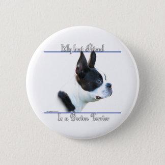 Boston Terrier Best Friend 2 - Button