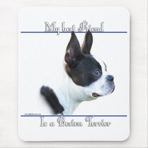 Boston Terrier Best Friend 2 Mouse Pad
