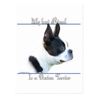 Boston Terrier Best Friend 2 Postcard
