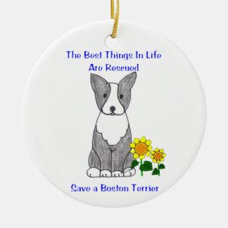 Boston Terrier Best Things In Life Ornament