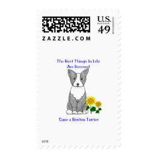 Boston Terrier Best Things In Life Postage Stamps