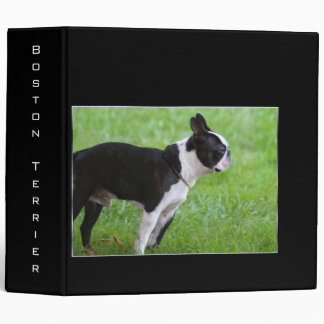Boston Terrier Binder