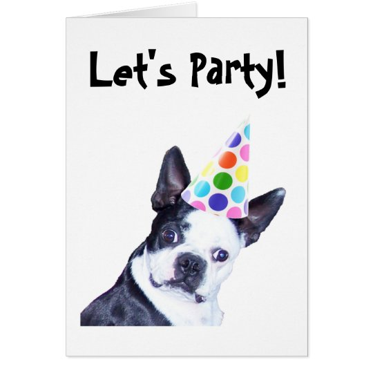 Boston Terrier Birthday Party Invitation
