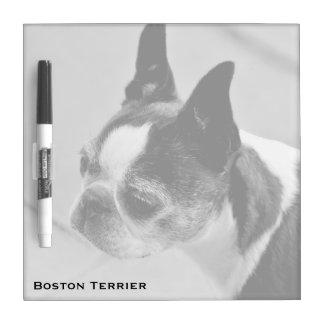Boston Terrier Black and White Dry Erase Board
