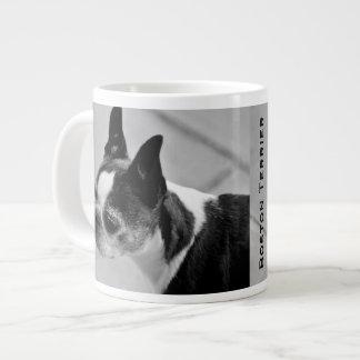 Boston Terrier Black and White Giant Coffee Mug