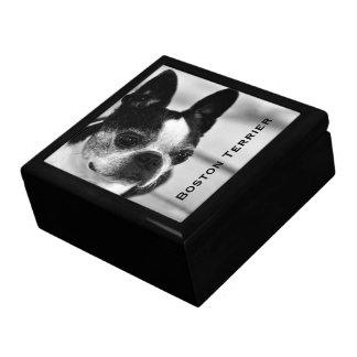Boston Terrier Black and White Jewelry Box