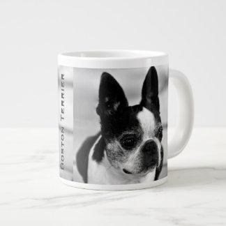 Boston Terrier Black and White Large Coffee Mug