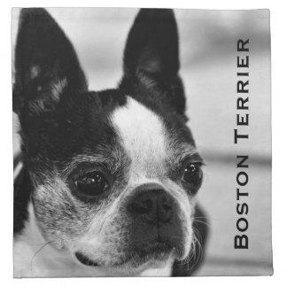 Boston Terrier blanco y negro Servilletas