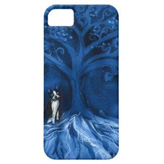Boston terrier blue iPhone SE/5/5s case