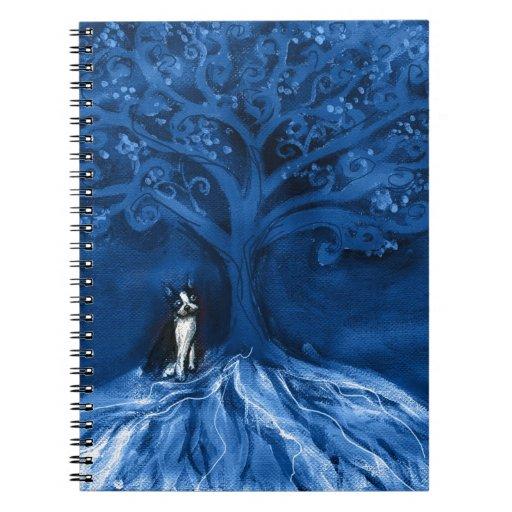 Boston terrier blue note book