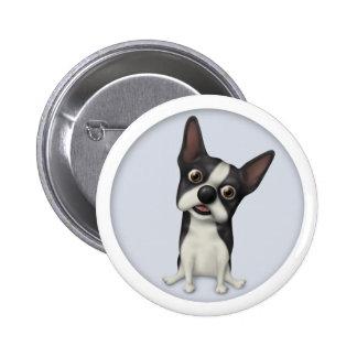 Boston Terrier BOST1 Pinback Button