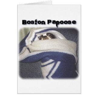 Boston Terrier:  Boston Papoose Card