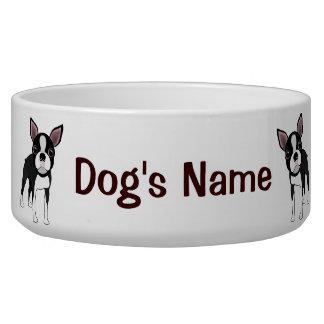 Boston Terrier Bowl Dog Water Bowl