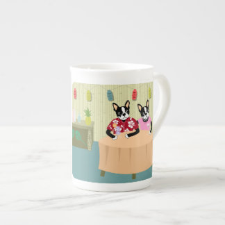 Boston Terrier Boy & Girl Tea Cup