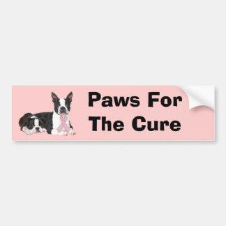 Boston Terrier Breast Cancer Bumper Sticker