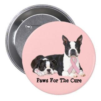 Boston Terrier Breast Cancer Button