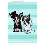 Boston Terrier Bride and Groom Stationery Note Card