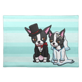 Boston Terrier Bride and Groom Placemat