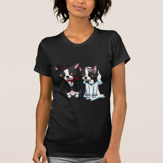 Boston Terrier Bride and Groom Tee Shirts