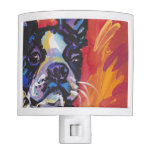 Boston Terrier Bright Colorful Pop Dog Art Night Lights