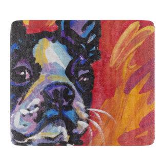 Boston Terrier Bright Colorful Pop Dog Art Cutting Board