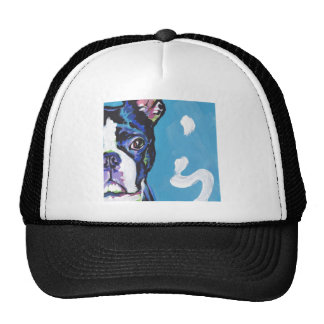 Boston Terrier Bright Colorful Pop Dog Art Mesh Hat