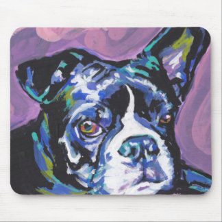 Boston Terrier Bright Colorful Pop Dog Art Mouse Pad