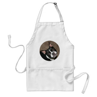 Boston Terrier:  Bright Face Adult Apron