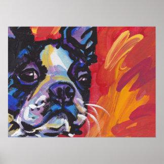 Boston Terrier Bright Pop Art Poster